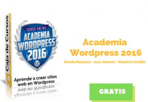 Lee más sobre el artículo Curso Academia WordPress 2016