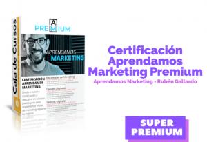 Lee más sobre el artículo Certificación Premium Aprendamos Marketing