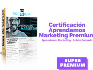 Certificación Premium Aprendamos Marketing