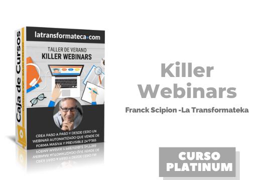 En este momento estás viendo Killer Webinars Franck Scipion